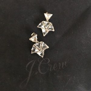 Clear Sparkly J Crew Drop Earrings